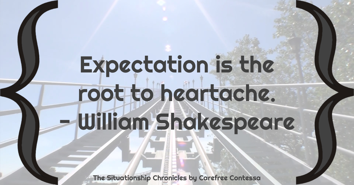 Managing expectations dating